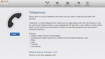 Download Telephone App from the Mac App Store