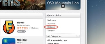 Redeeming an iTunes Gift Card in the Mac App Store