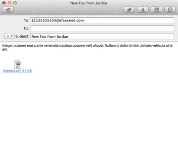 When using a fax-to-email service you usually enter text into the main message body if you need a cover note.