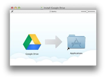 Google Drive also requires no installation, just drag the app to the Applications folder.