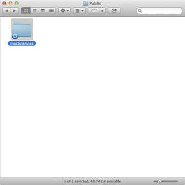 Step 1: Create a folder in your Public folder called mactutsrules.