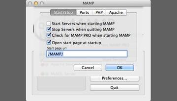 MAMP Preferences
