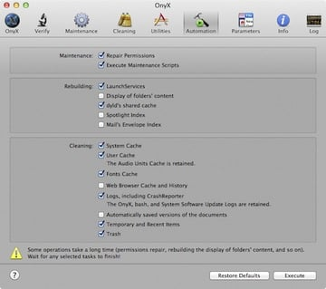 OnyX is a free tool to troubleshoot and customise your Mac