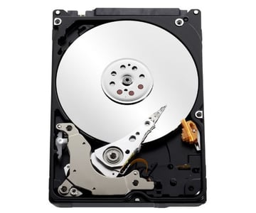 A mechanical hard drive has hundreds of moving parts but is cheaper than solid state drives