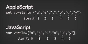 javascript vs. applescript