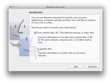 Of course you can also transfer data from your old Mac to a new Mac
