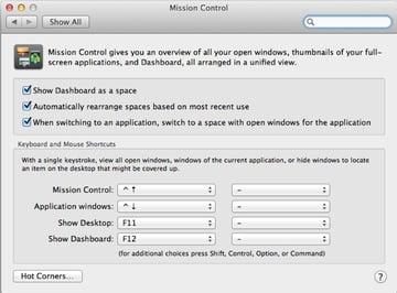 Tweak your Mission Control settings