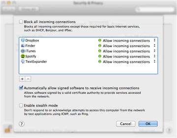 Tweak your firewall settings