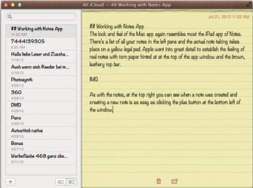 Welcome Notes to OS X