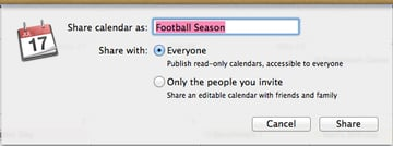 Publishing a public calendar