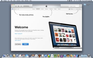 The Welcome screen in iTunes 11