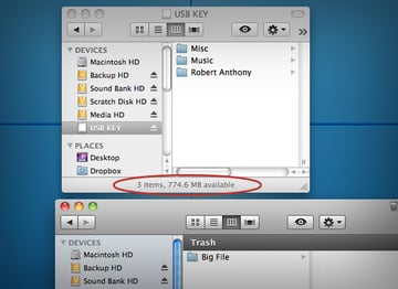 Even After Being Sent To The Trash Can, The File Is Still Using disk Space