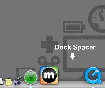Click And Drag Your Dock Spacers To organize and Group Your Dock Icons How You Like