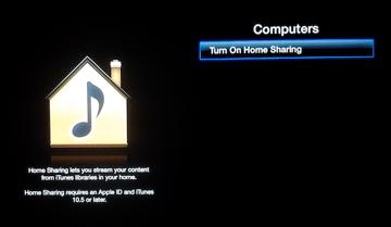 Apple TVHomeSharing