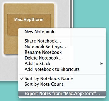 Right-click on the notebooks you want to export to get started.