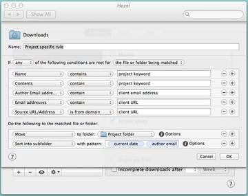 Organize your project files with Hazel.