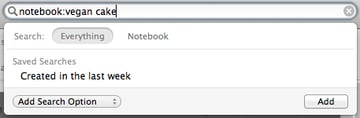 If you'll get lots of extraneous results, you can search just within a single notebook, narrowing your focus.