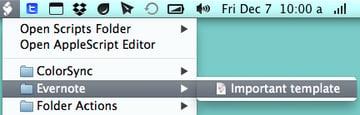 Your script will be under Evernote in the Script menu in the menu bar.