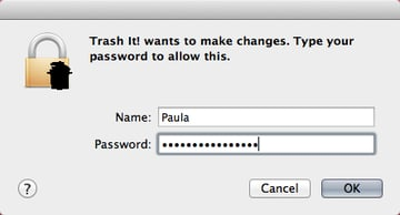 Authenticate with a password, and then give Trash It! a few moments to get the job done.