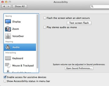 OS X includes some audio tools to make hearing what your Mac has to say easier