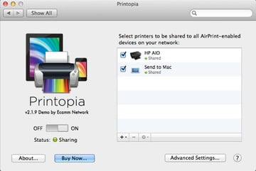 Printopia is accessible from System Preferences