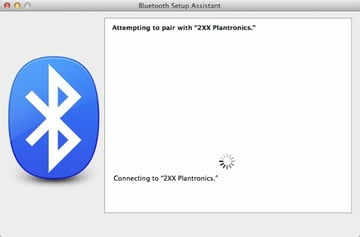 Bluetooth Setup Assistant will also attempt to connect automatically to your selected device