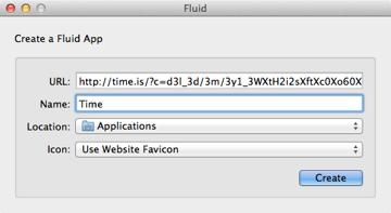 Entering the criteria to create an app
