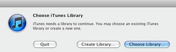 Setting up the iTunes Library location