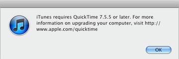 Updating QuickTime