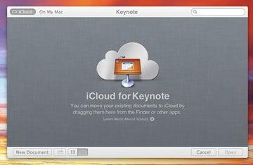 The splash screen of Keynote