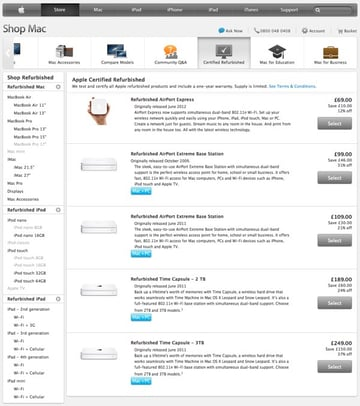 Double-digit discount percentages from Apple.