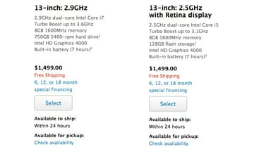 The MacBook Pro range features vastly different storage sizes depending on whether you opt for a mechanical hard drive or SSD