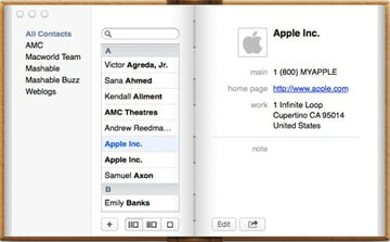 Contacts is the default address book within OS X, but unfortunately it is a little lacking in features compared to its Windows counterpart.