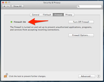 Apple's built in Firewall is easy to turn on and could be helpful.