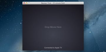 Simply drag a video file on to Beamer and it will be streamed via AirPlay to your Apple TV