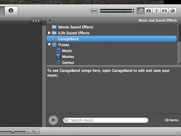 In the music tab you have access to add any track from your library.