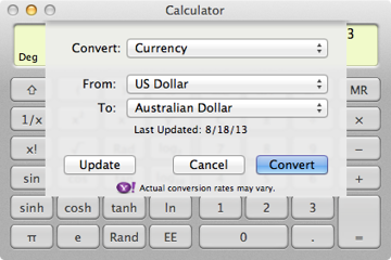 Two-click unit conversion for those difficult questions.