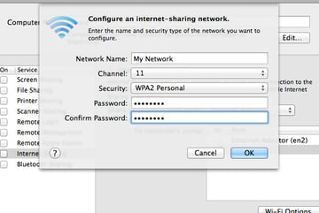 We can make sure our network remains private by setting a secure password.