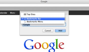 Save your bookmark to the Bookmarks Bar or Menu.