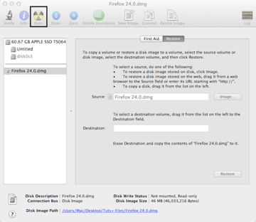 To burn a DMG file to a CD or DVD, mount the disk image to Disk Utility, select it, and then click Burn.