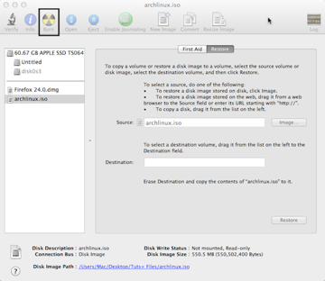 Burning ISOs with Disk Utility is the same as burning a DMG. Just highlight the image in the left sidebar and click Burn.