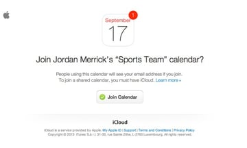 Users who have been shared a calendar with will receive an email notification.