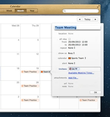 Anyone who declines an invitation is shown as doing so right within Calendars.