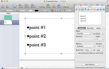 Bullet point transitions are very easy to add to your presentation