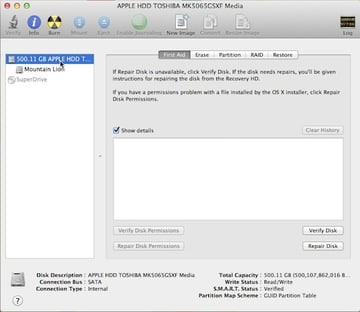 Selecting the hard drive to partition