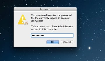 Enter your admin password to continue