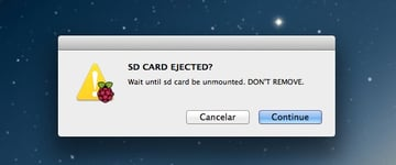 Do not remove the SD card whilst flashing