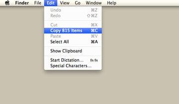 Click Edit and then Copy.