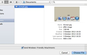 Locate the file you wish to include.