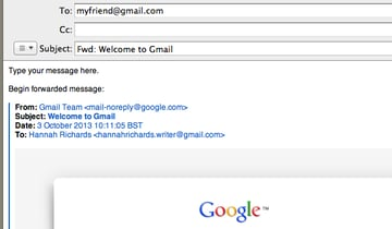 Insert the email address of the recipient in the To field.